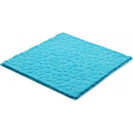 Kúpeľňová predložka polyester Grund 55x55 cm, modrá SIKODGSTE555