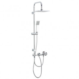 Sprchový systém Multi s pákovou batériou, 1 funkcia, hranatý dizajn MULTIPIPEHBAT