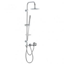 Sprchový systém Multi s pákovou batériou, 1 funkcia, guľatý dizajn MULTIPIPEKBAT