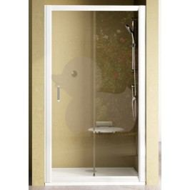 Sprchové dvere Ravak Rapier jednokrídlové 110 cm, sklo číre, satin profil NRDP2110PTS