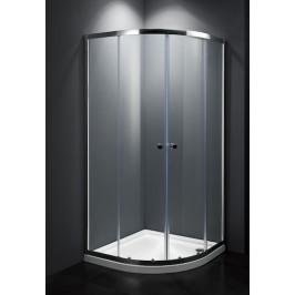 Sprchový kút Multi Basic štvrťkruh 80 cm, R 550, sklo číre, chróm profil, univerzálny SIKOMUS80CRT