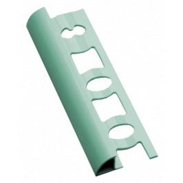 Lišta ukončovacia oblá PVC svetlozelená, dĺžka 250 cm, výška 8 mm, L825011