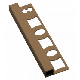 Lišta ukončovacia hranatá PVC karamel, dĺžka 250 cm, výška 8 mm, LH825028