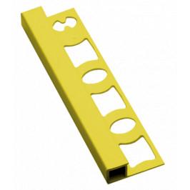 Lišta ukončovacia hranatá PVC žltá, dĺžka 250 cm, výška 8 mm, LH8250Y