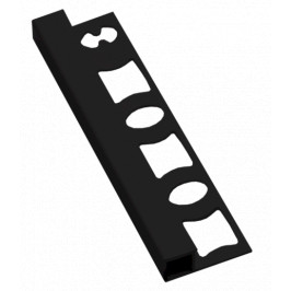 Lišta ukončovacia hranatá PVC čierna, dĺžka 250 cm, výška 8 mm, LH8250C