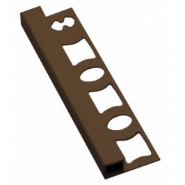 Lišta ukončovacia hranatá PVC svetlo hnedá, dĺžka 250 cm, výška 8 mm, LH825015