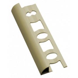Lišta ukončovacia oblá PVC jazmín, dĺžka 250 cm, výška 10 mm, L1025020