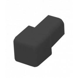 Roh k lište hranatý PVC tmavo šedá, výška 8 mm, LHROH84