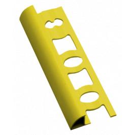 Lišta ukončovacia oblá PVC žltá, dĺžka 250 cm, výška 8 mm, L8250Y