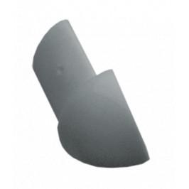 Roh k lište oblý PVC svetlo šedá, výška 9 mm, LROH93