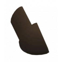 Roh k lište oblý PVC tmavo hnedá, výška 8 mm, LROH8H