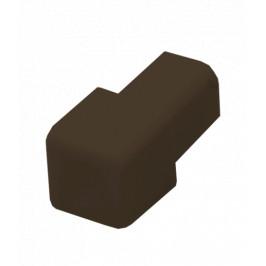 Roh k lište hranatý PVC tmavo hnedá, výška 8 mm, LHROH8H
