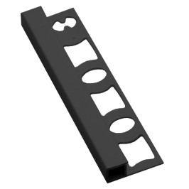Lišta ukončovacia hranatá PVC tmavo šedá dĺžka 250 cm, výška 8 mm, LH82504