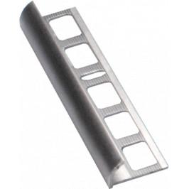 Lišta ukončovacia oblá hliník prírodné, dĺžka 250 cm, výška 8 mm, ALO8250