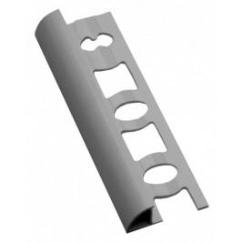 Lišta ukončovacia oblá PVC svetlo šedá, dĺžka 250 cm, výška 10 mm, L102503