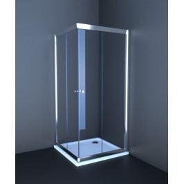 Sprchový kút Anima T-Pro štvorec 80 cm, sklo číre, chróm profil TPLNEW80CRT
