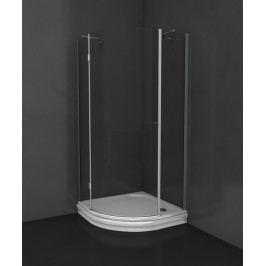 Sprchový kút Anima T-Comfort štvrťkruh 90 cm, R 550, sklo číre, chróm profil TCS390T