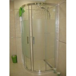 Sprchový kút Anima T-Silent štvrťkruh 90 cm, R 550, sklo stripe, chróm profil TSIS90CRS