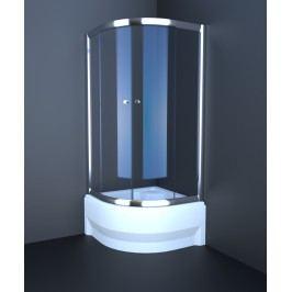 Sprchový kút Anima T-Pro štvrťkruh 90 cm, R 550, nepriehľadné sklo, chróm profil TPSNEW90ROCRG