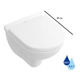 Závesné WC Villeroy & Boch O.Novo, zadný odpad, 49cm 56881001