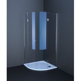Sprchový kút Anima T-Comfort štvrťkruh 90 cm, R 550, sklo číre, chróm profil TCS490T