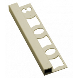Lišta ukončovacia hranatá PVC jazmín, dĺžka 250 cm, výška 8 mm, LH825020