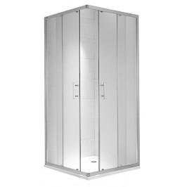 Sprchový kút Jika štvorec 80 cm, sklo číre, chróm profil 5124.1.002.668.1