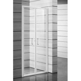 Sprchové dvere Jika Lyra plus dvojkrídlové 90 cm, sklo číre, biely profil 5638.2.000.668.1