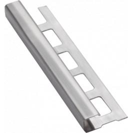 Lišta ukončovacia hranatá nerez kartáčovaná, dĺžka 250 cm, výška 8 mm, NRZHK8250