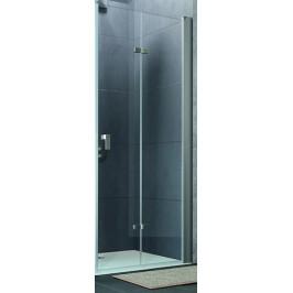 Sprchové dvere Huppe Design Pure skladací 80 cm, sklo číre, chróm profil DPUSD80190CRTP
