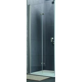 Sprchové dvere Huppe Design Pure skladací 100 cm, sklo číre, chróm profil DPUSD100190CRT