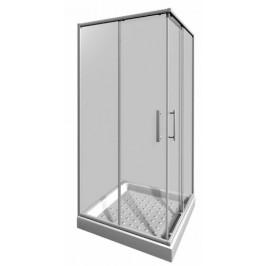 Sprchový kút Jika Lyra plus štvorec 80 cm, sklo číre, biely profil 5138.1.000.668.1