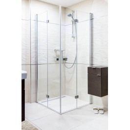 Sprchový kút Anima SK skladací 90 cm, sklo číre, chróm profil SK9090