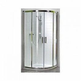 Sprchový kút Kolo GEO 6 štvrťkruh 80 cm, chróm profil GKPG80205003