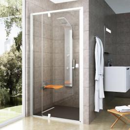 Sprchové dvere Ravak Pivot jednokrídlové 110 cm, sklo číre, biely profil PDOP2110T00