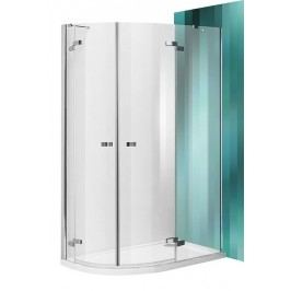Sprchový kút Roltechnik štvrťkruh 80 cm, R 550, sklo číre, chróm profil, ľavé GR21200800LTBR