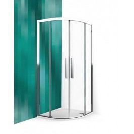 Sprchový kút Roltechnik štvrťkruh 90 cm, R 550, sklo číre, chróm profil, univerzálny ECR2N900TBR