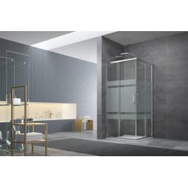 Sprchový kút Anima Tex štvorec 80 cm, sklo stripe, chróm profil, univerzálny SIKOTEXQ80CRS