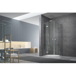Sprchový kút Anima Stream štvrťkruh 90 cm, R 550, sklo číre, chróm profil, univerzálny SIKOSTREAMS90CRT