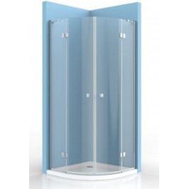 Sprchový kút Anima Stream štvrťkruh 100 cm, R 550, sklo číre, chróm profil, univerzálny SIKOSTREAMS100CRT