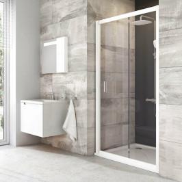 Sprchové dvere Ravak Blix posuvné 100 cm, sklo číre, biely profil, univerzálny BLDP2100T0