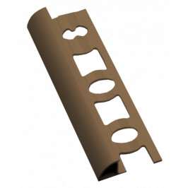Lišta ukončovacia oblá PVC karamel, dĺžka 250 cm, výška 8 mm, L825028