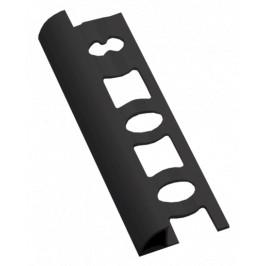 Lišta ukončovacia oblá PVC tmavo šedá, dĺžka 250 cm, výška 10 mm, L102504