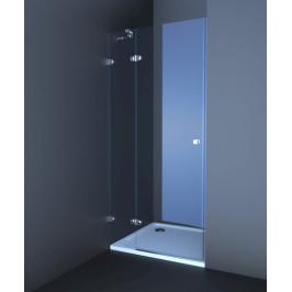 Sprchové dvere Anima T-Glass jednokrídlové 100 cm, sklo číre, chróm profil TGD2100T