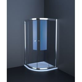 Sprchový kút Anima T-Pro štvrťkruh 90 cm, R 550, nepriehľadné sklo, biely profil TPSNEW90ROG