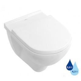 Závesné WC Villeroy & Boch O.Novo, zadný odpad, 56cm 56601001