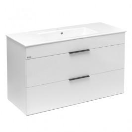 Kúpeľňová skrinka s umývadlom Jika Plan 100x44,1x62,2 cm biela H4536521763001
