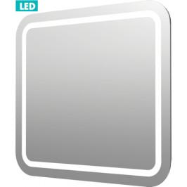 Naturel Zrkadlo s osvetlením led Pavia Way 60x60 cm IP55, bez vypínača ZIL6060KRBV