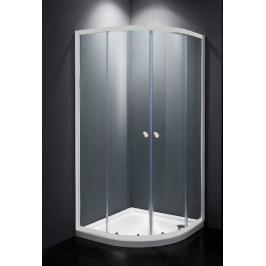 Sprchový kút Multi Basic štvrťkruh 80 cm, R 550, sklo číre, biely profil, univerzálny SIKOMUS80T0