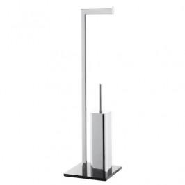 Optima WC kefa Glass voľne stojaci, čierna/chróm GLASDRZSTET